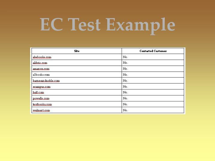 EC Test Example