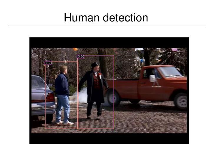 Human detection