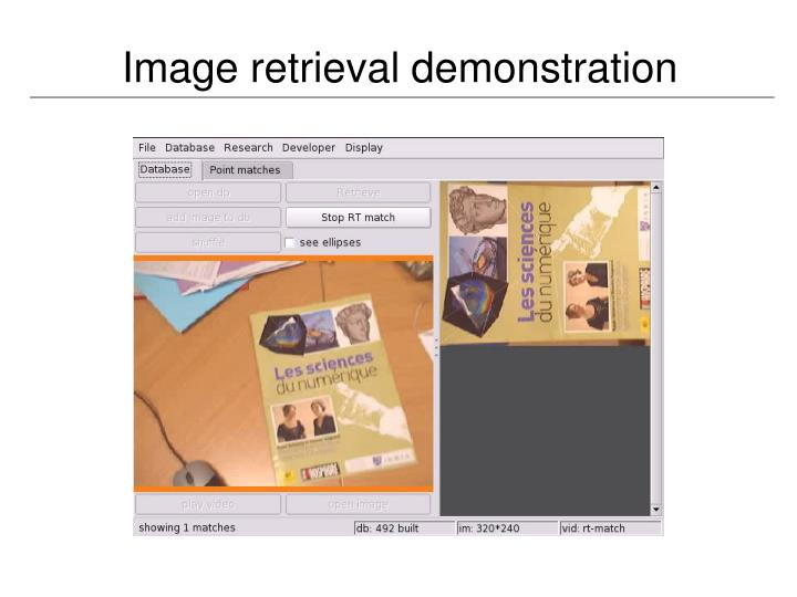 Image retrieval demonstration