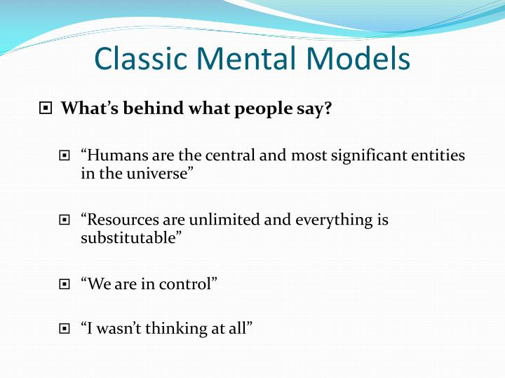 Classic Mental Models