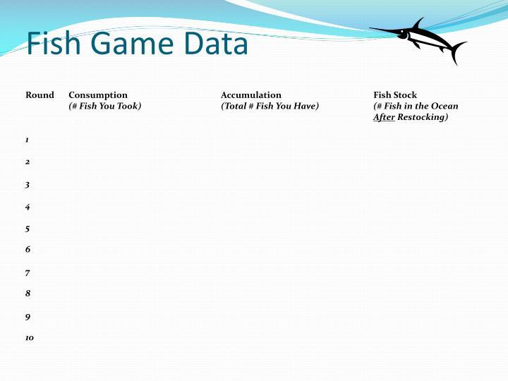 Fish Game Data