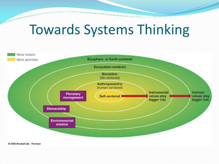 Towards Systems Thinking