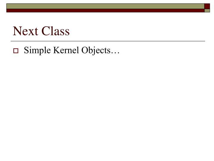 Next Class