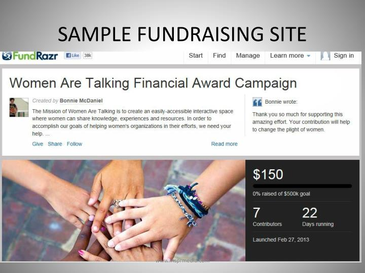 SAMPLE FUNDRAISING SITE