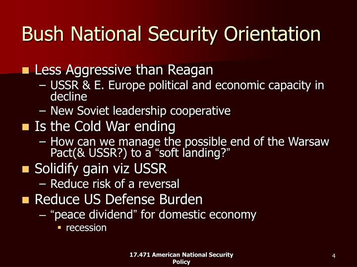 Bush National Security Orientation