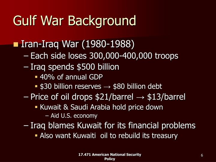 Gulf War Background