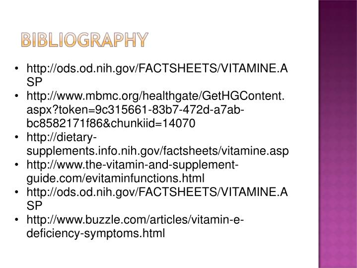 http://ods.od.nih.gov/FACTSHEETS/VITAMINE.ASP