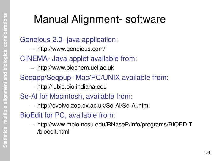 Manual Alignment- software