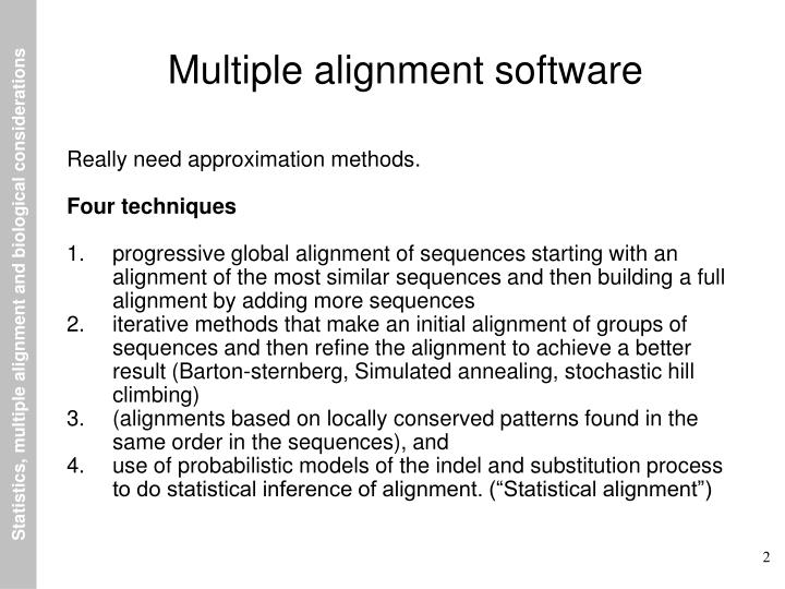 Multiple alignment software