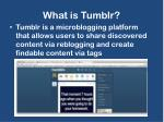 what is tumblr