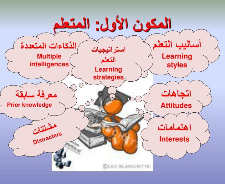 المكون الأول: المتعلم