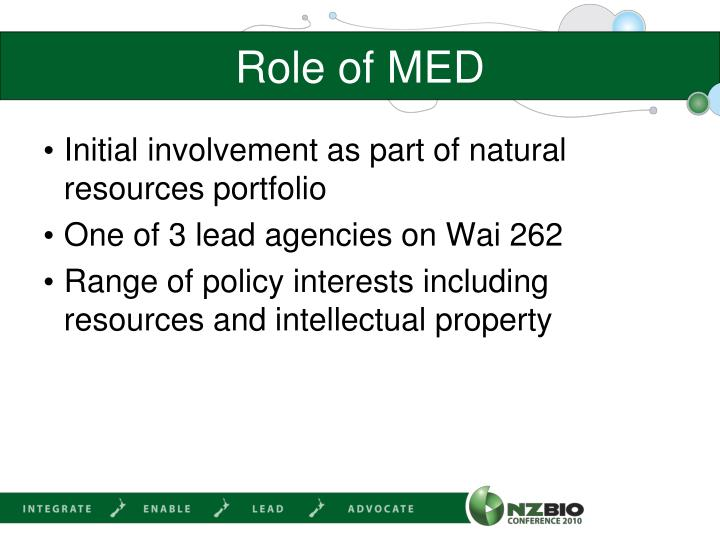 Role of MED
