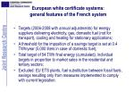 european white certificate systems general features of the french system