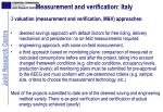 measurement and verification italy