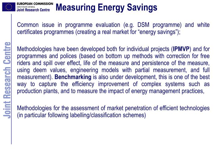 Measuring Energy Savings