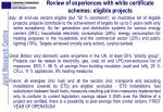review of experiences with white certificate schemes eligible projects