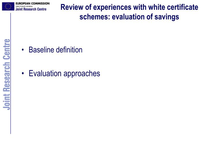 Review of experiences with white certificate schemes