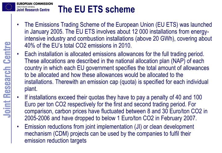 The EU ETS scheme