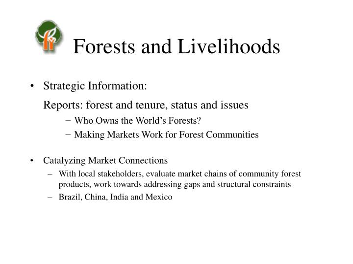 Forests and Livelihoods