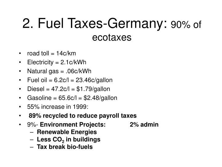 2. Fuel Taxes-Germany: