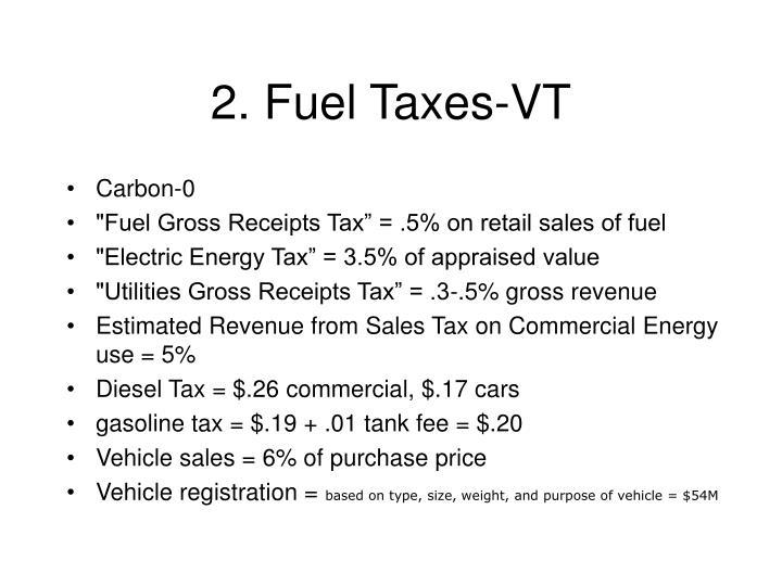 2. Fuel Taxes-VT