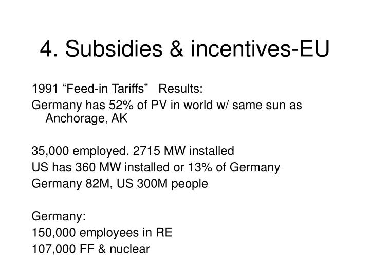 4. Subsidies & incentives-EU