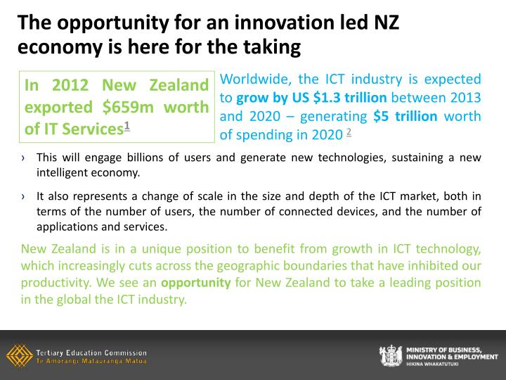 The opportunity for an innovation led NZ economy is here for the taking