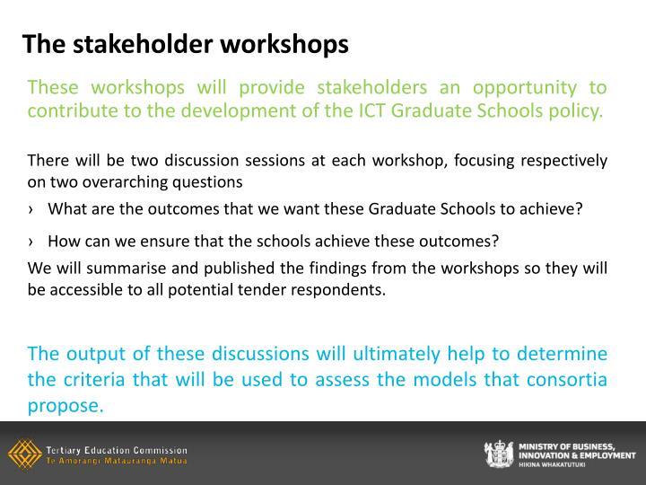 The stakeholder workshops