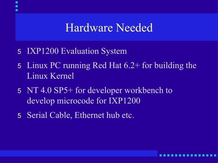 Hardware Needed