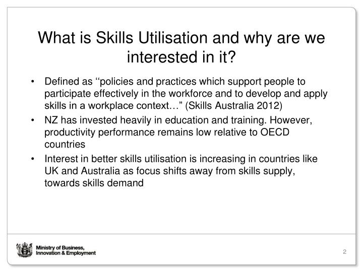 What is Skills Utilisation and why are we interested in it?