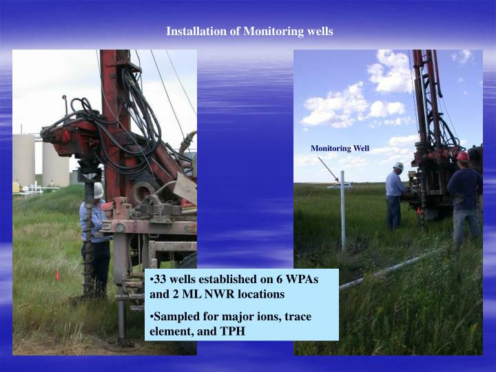Installation of Monitoring wells