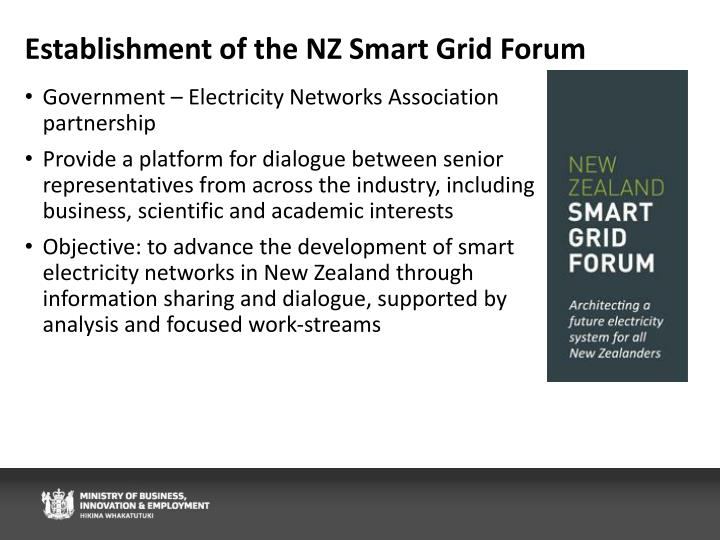 Establishment of the NZ Smart Grid Forum
