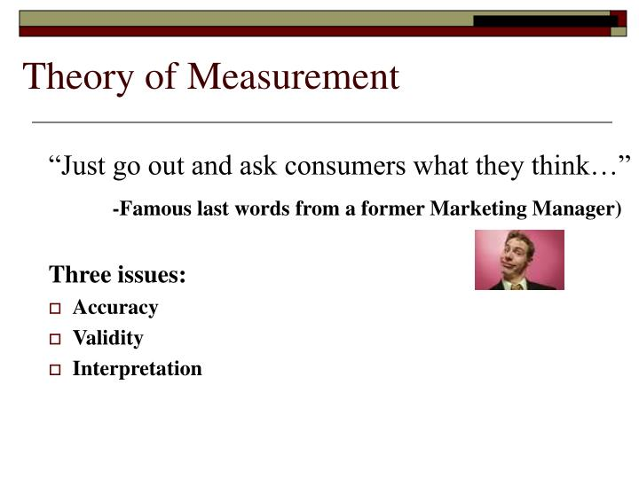 Theory of Measurement