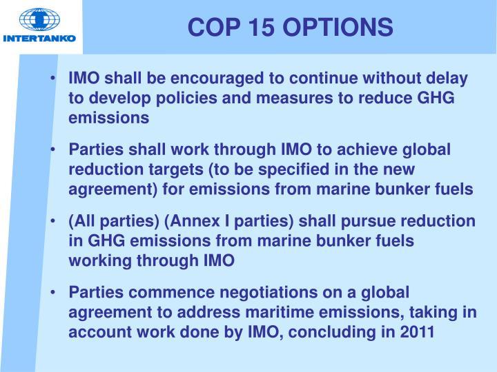 COP 15 OPTIONS