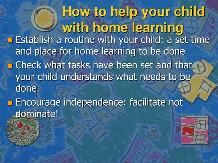 How to help your child with home learning