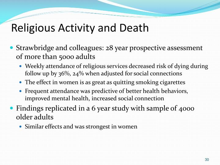 Religious Activity and Death