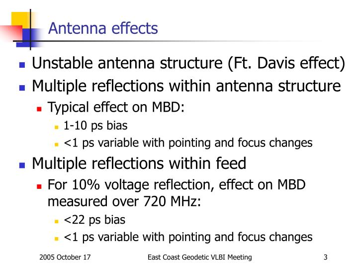 Antenna effects