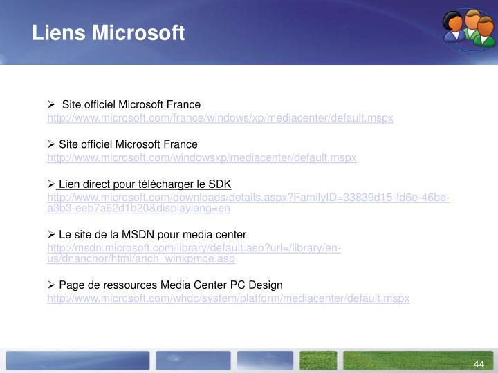 Liens Microsoft