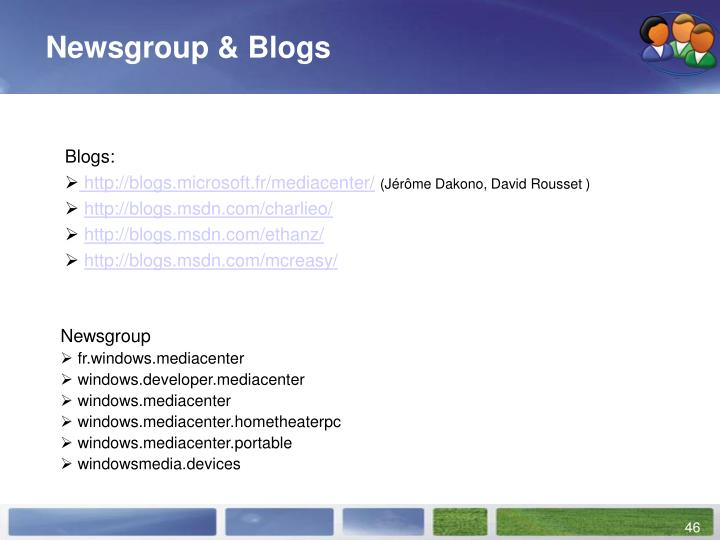 Newsgroup & Blogs