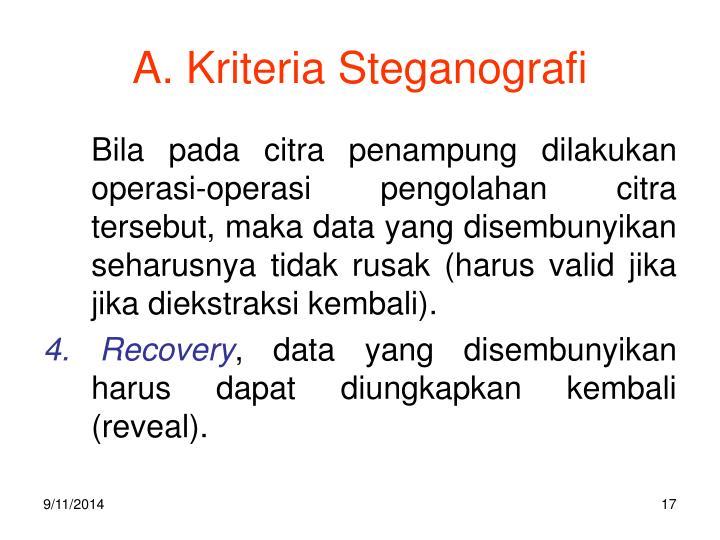 A. Kriteria Steganografi
