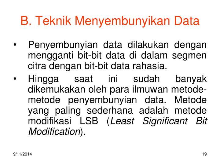 B. Teknik Menyembunyikan Data
