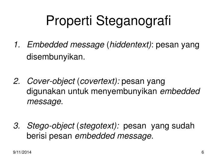 Properti Steganografi