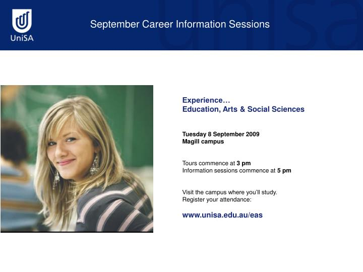 September Career Information Sessions