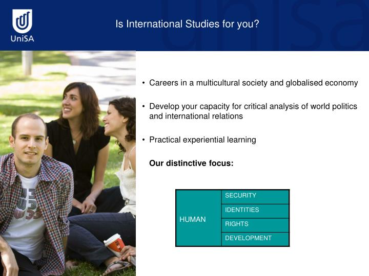 Is International Studies for you?