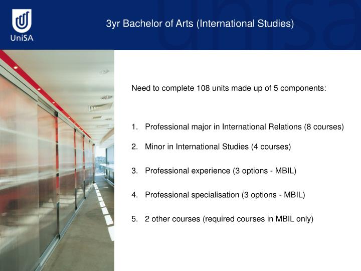 3yr Bachelor of Arts (International Studies)