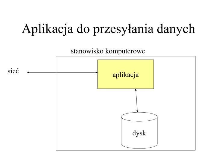 Aplikacja do przesyłania danych