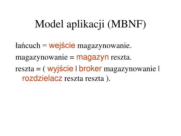 Model aplikacji (MBNF)