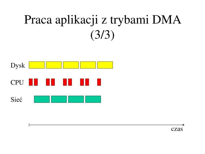 Praca aplikacji z trybami DMA (3/3)