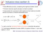 inclusive cross section i