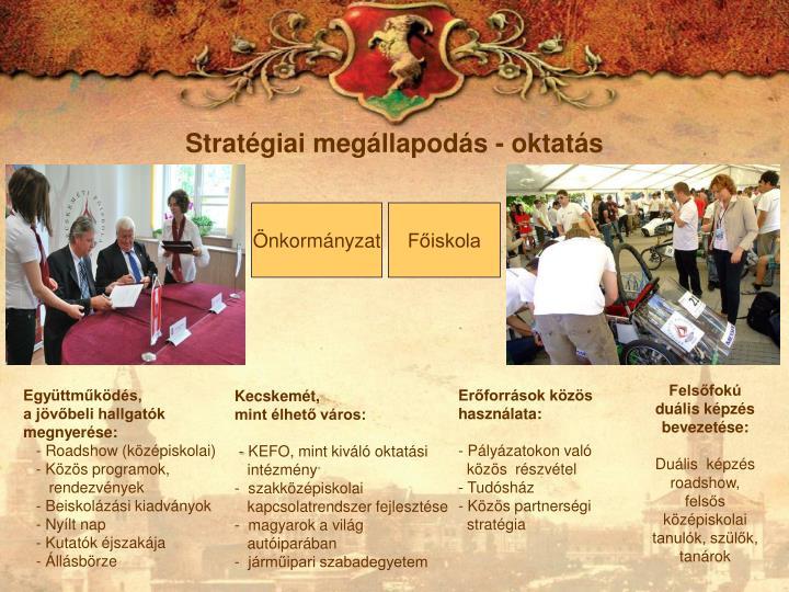 Stratégiai megállapodás - oktatás